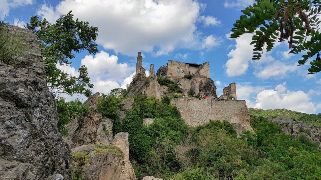 Les ruines du château de Dürnstein en Autriche