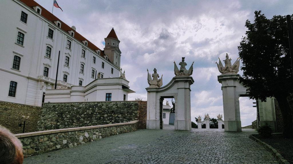 Le château de Bratislava en Slovaquie