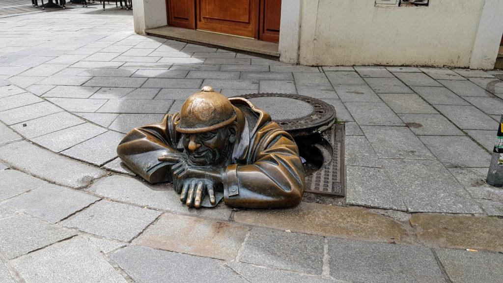 Visite de la ville de Bratislava en Slovaquie - Man at work