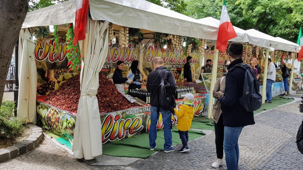 Le marché de la ville de Bratislava en Slovaquie