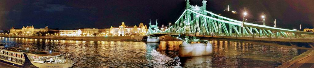 Arrivée de nuit à Budapest en Hongrie
