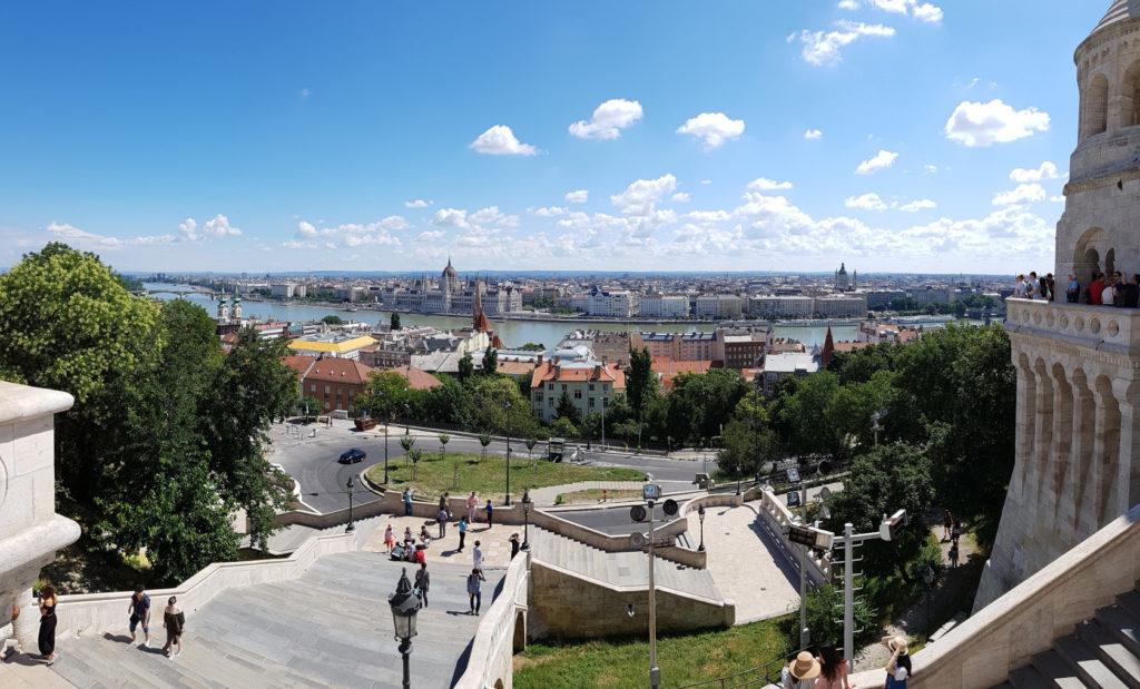 Budapest vue du Bastion des pêcheurs