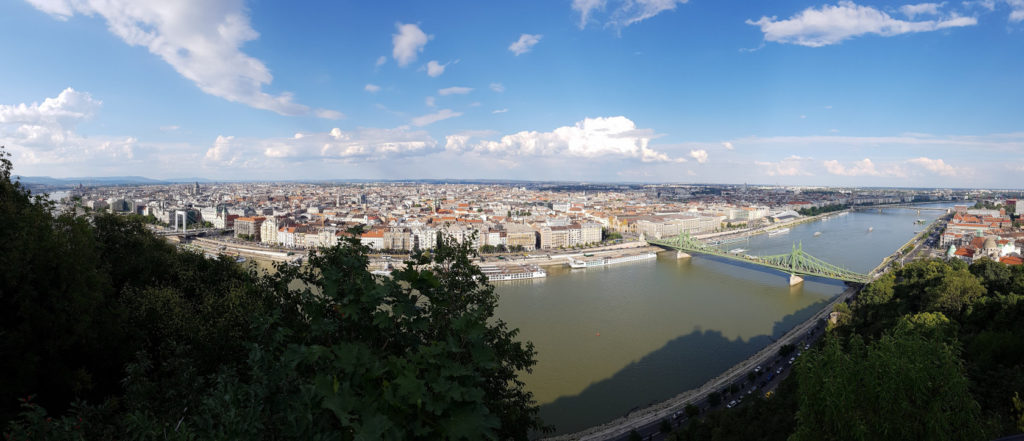 Montée à la citadelle de Budapest en Hongrie