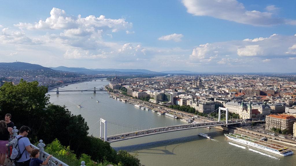 Vue à partir de la citadelle de Budapest en Hongrie