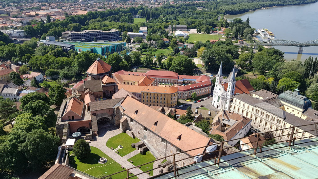 Vue à partir de la Coupole de la Basilique d'Esztergom en Hongrie